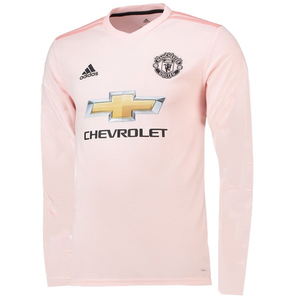 Camiseta Manchester United 2ª ML 2018-2019 Rosa